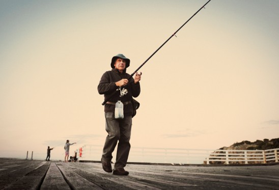 murph at tathra wharf