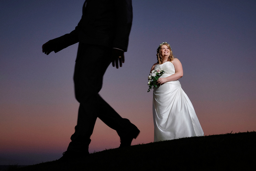 Wedding Night photography at Shelly Beach Golf Course