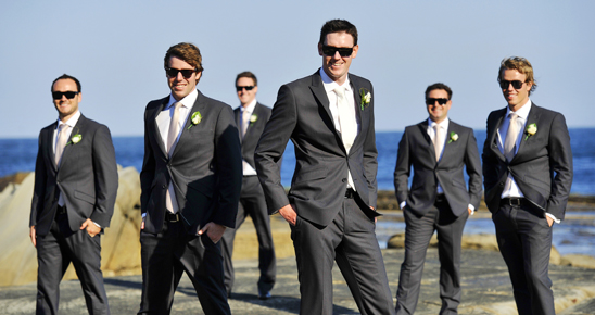 wedding suits at the beach