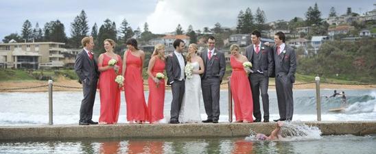Mona Vale rock pool wedding photo - Impact Images