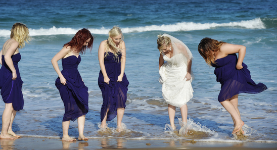 Shelly Beach Golf Course Wedding