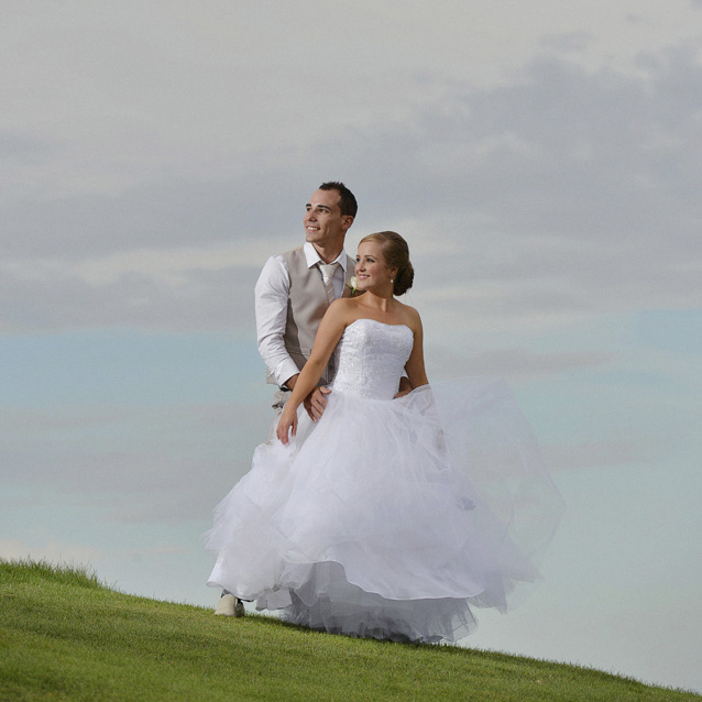 Magenta Shores Wedding Photos on the golf course