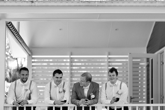 Guys getting ready at Bells for wedding