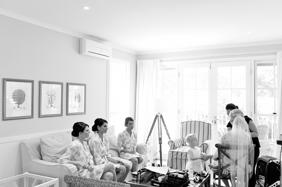Girls getting ready at Bells for wedding