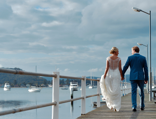 Hardys Bay Wharf Wedding party